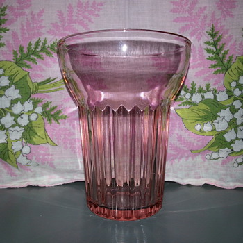 Another Vintage Queen Mary Pink Tumbler - Glassware
