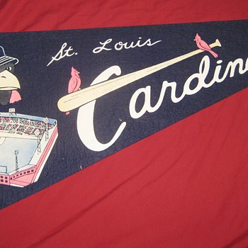 1953 Pennant for ballpark renaming...  2 pin holes away from Perfact