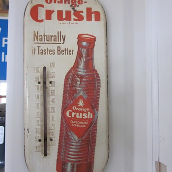 1929 Orange Crush Thermometer