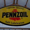 3 ft by 5 ft pennzoil sign