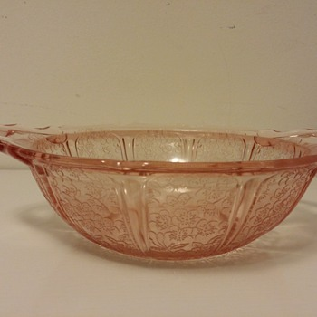 Pink Depression Cherry Blossom Bowl