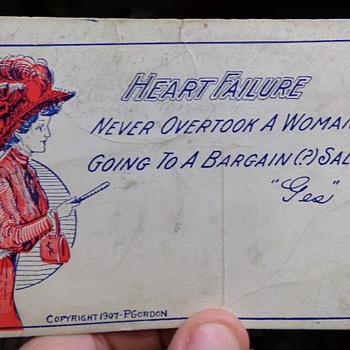 A Woman Bargain-Shopping, 1909 - Postcards