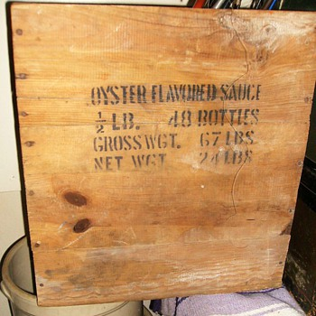 Old Wood Crate -- Oyster Box