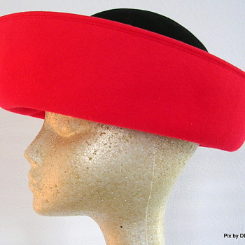 Patricia Underwood Red & Black Wool - Hats