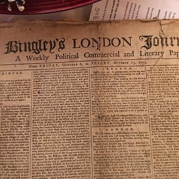 Bingley's London Journal 1775