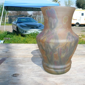 can anyone help me identify this vase - Art Glass