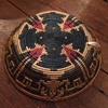 Native American Basket with blue and red pattern?