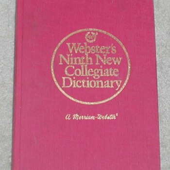 1990 Webster's Ninth New Collegiate Dictionary - Books