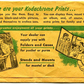 Vintage Kodachrome Print Folder
