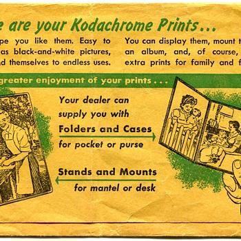 Vintage Kodachrome Print Folder - Cameras