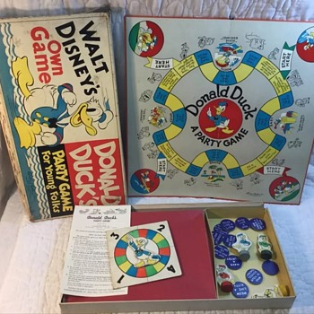 1938 Donald Duck game for young folks