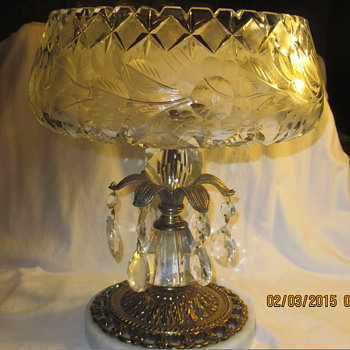 Crystal Italian compote with Italian marble base