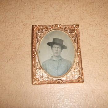 Tintype of Civil War soldier in sack coat - Photographs