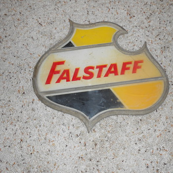 1950's falstaff beer sign - Breweriana