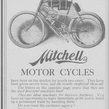 1902 Mitchell Motor Bicycle Advertisement - Advertising