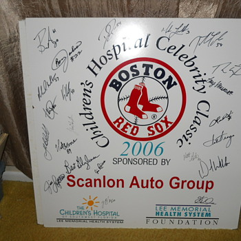 Red Sox boards full of autographs - Baseball