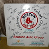 Red Sox boards full of autographs