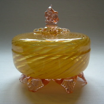 Welz Lidded Bowl - Art Glass