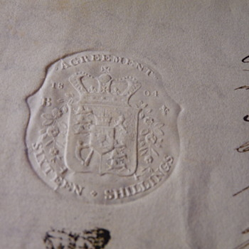 1800's Agreement Letter County Of York Embossed England Seal