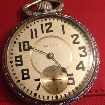 Antique Waltham Railroad Pocket Watch