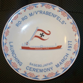 Ro-Ro M/V Rabenfels Plate  Sasebo Japan 