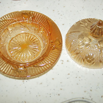 My Favorite Carnival Glass Dish Set
