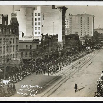 Oddfellows Parade Sept. 18, 1912, Winnipeg Manitoba - Postcards