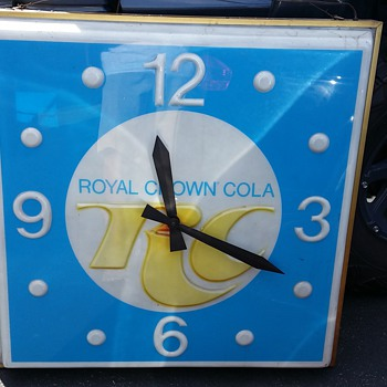 RC Royal Crown Cola Clock