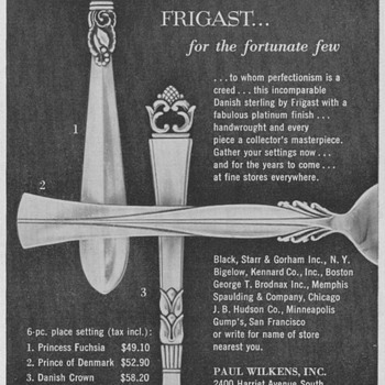 1950 Frigast Silver Advertisement