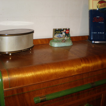 Top of the vintage buffet