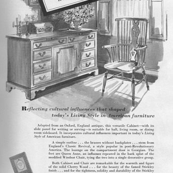 1953 - Stickley Furniture Advertisements