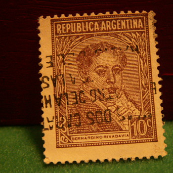 Vintage Republica Argentina 10c Stamp - Stamps