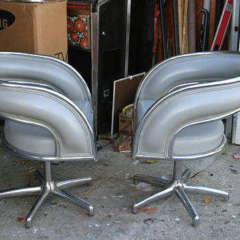 Retro chrome chairs