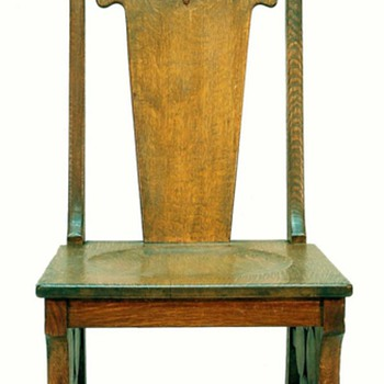 European Arts & Crafts Oak Side Chair