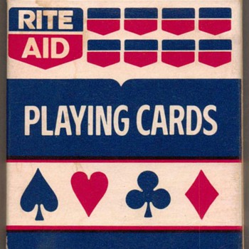 """Rite-Aid"" Poker Playing Cards - Blue"