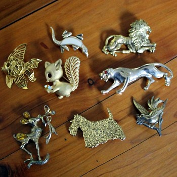 Brooches No 2 - things alive made from metal - Costume Jewelry
