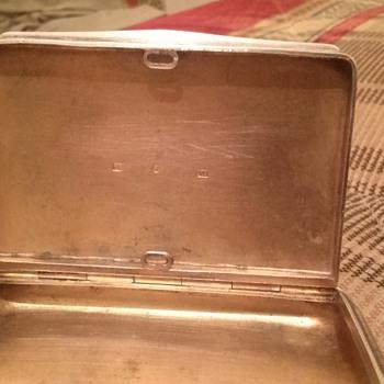 vintage silver cigarette box ?