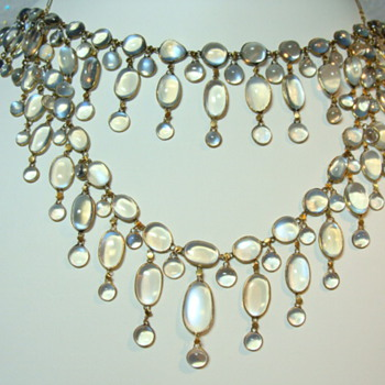 Antique Moonstone Necklaces