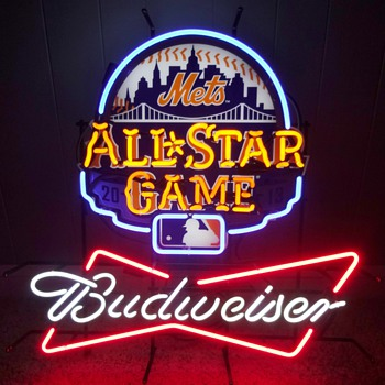 BUDWEISER NEW YORK METS/CITI FIELD/ALL STAR GAME NEON SIGN - Baseball