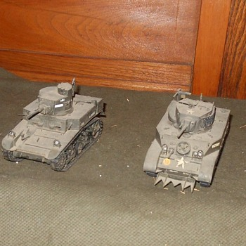 M3 and M5 Stuart Light Tanks 1/35 Scale Models - Military and Wartime