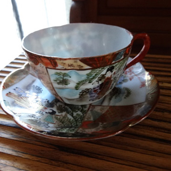 Japanese Cup and Saucer. - Asian