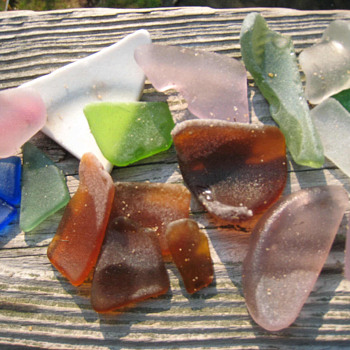 Beach Glass from Potomac River