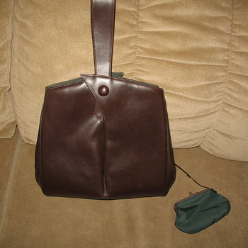 Elsa Schiaparelli Brown Calf Leather handbag