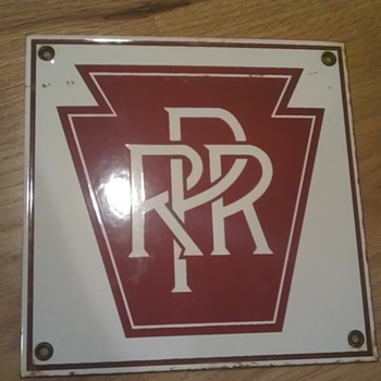Pennsylvania Rail Road Porcelain Sign 
