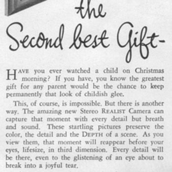 1948 - Realist Stereo Camera Advertisement