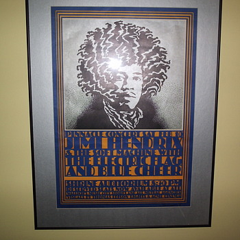 Jimi Hendrix 1968 Concert Poster 2nd Printing - Posters and Prints