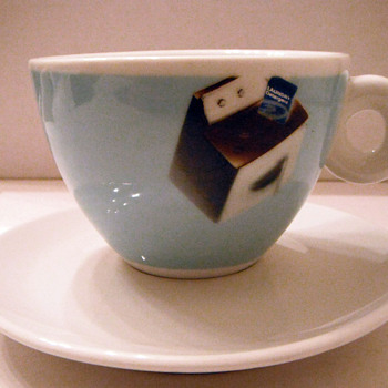 Six espresso cups and saucers
