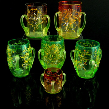 Bohemian Loving Cups (tygs) - Art Glass