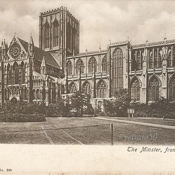 YORK. THE MINSTER FROM SOUTH. c.1900. - Postcards