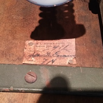 B.L. Marble Chair Co - Numbered, Signed, Patented 8-28-1923 - Furniture